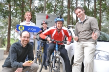 Ride to Work Day challenge partcipants (image from http://www.staffnews.mq.edu.au)
