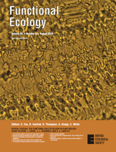 Functional Ecology Cover