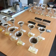 Student soil analyses back at the lab